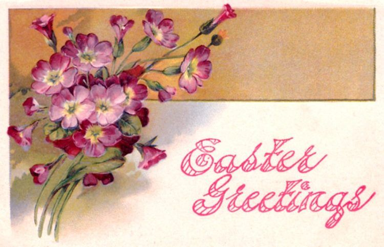 24 adorable vintage easter cards from the first decades of