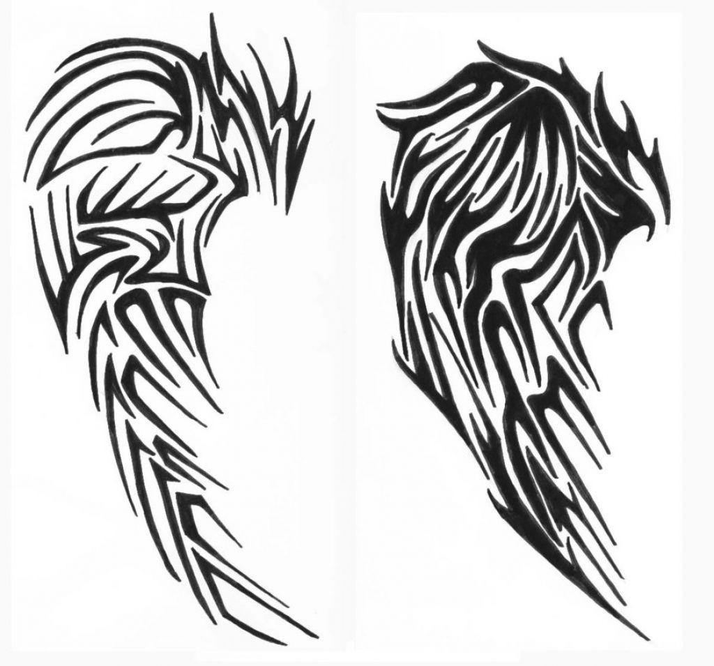 fantastic tribal wings tattoo design � tattoo body art