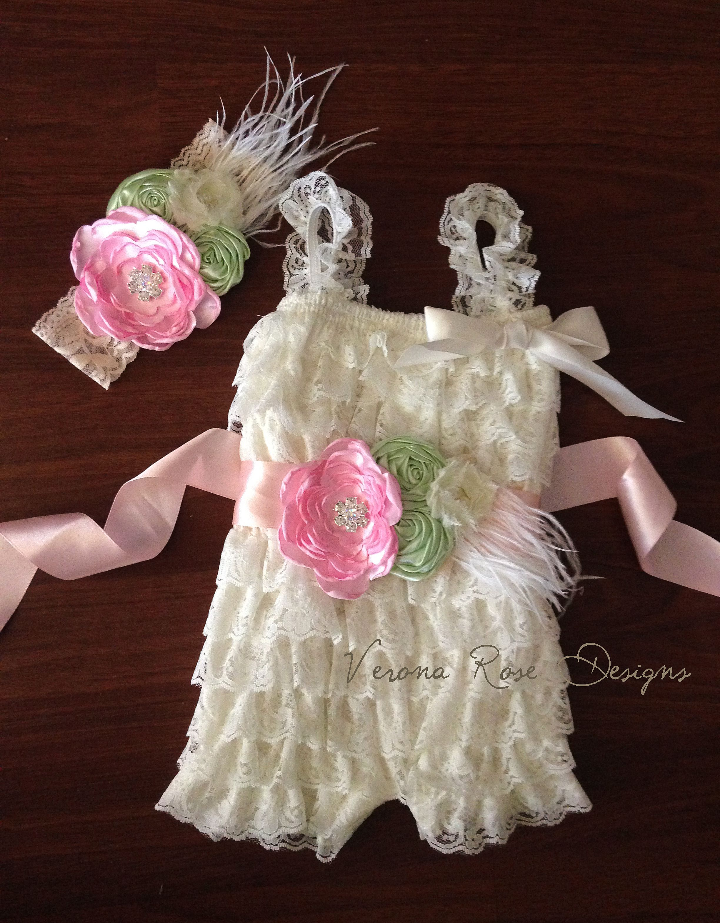 de9f73195 Beautiful stretch romper made of ruffle layers of ivory lace ...