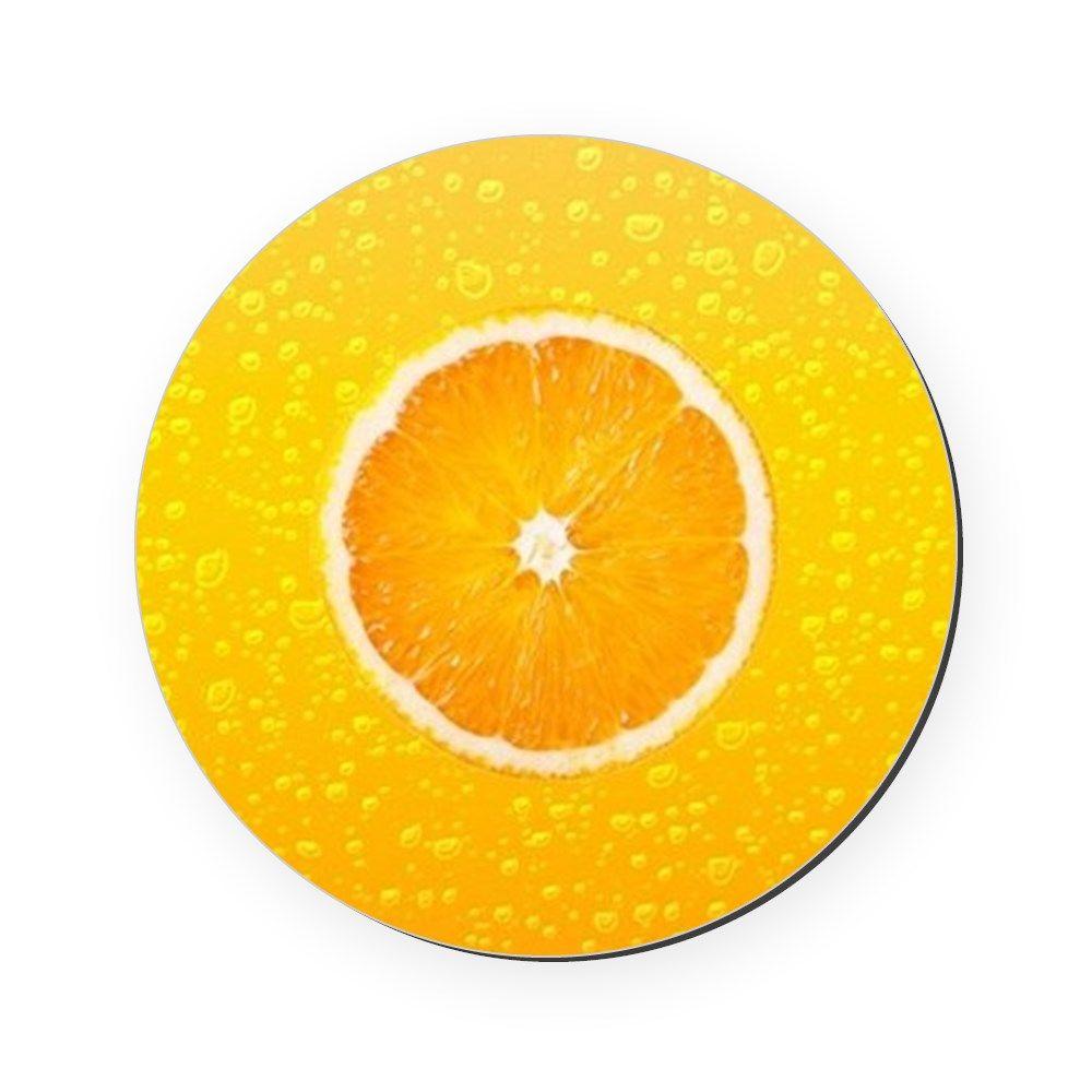 Orange Fresh Round Coaster