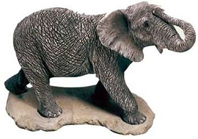 African Elephant Figurine Statue. Discover Thousands of Home Décor Ideas at AllSculptures.com