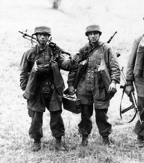 Image result for ww2 german luftwaffe soldier with ammo tin