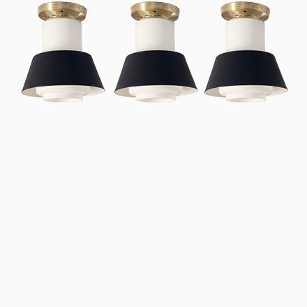 Deckenlampen von Jonas Hidle für Høvik Verk, 1950er, 3er Set - deckenleuchten für badezimmer