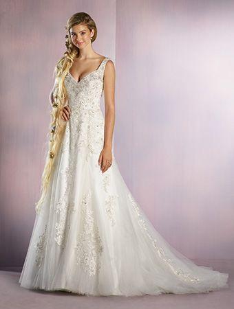 Bridal Collections Spokane WA Alfred Angelo 255 Rapunzel Disney Wedding DressesPrincess