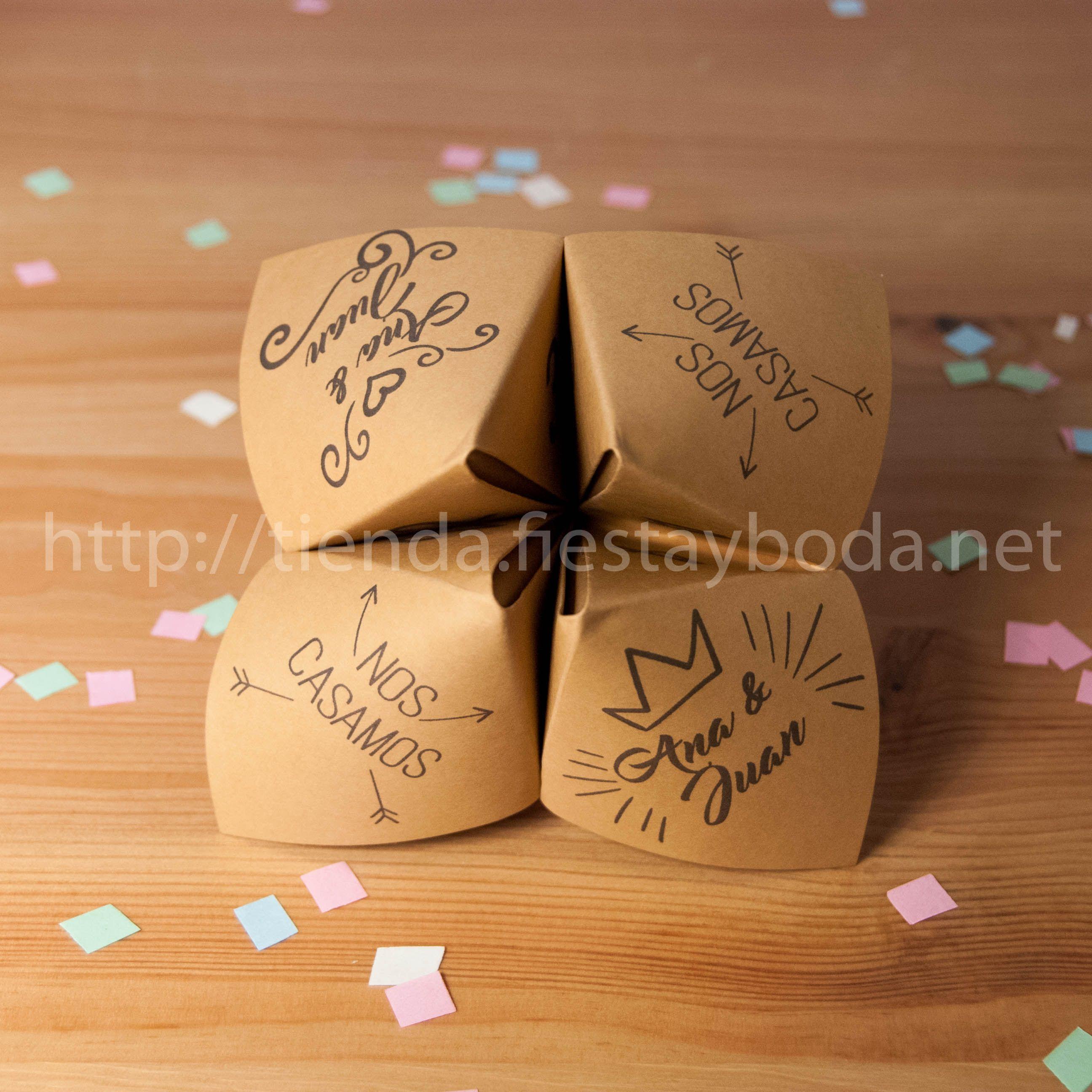 colores armoniosos comprar el más nuevo estilo atractivo Invitaciones de boda Comecocos kraft - Invitaciones de boda ...