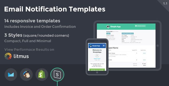 SimpleApp Hybrid Notification Email HTML Templates Template And - Email notification template html