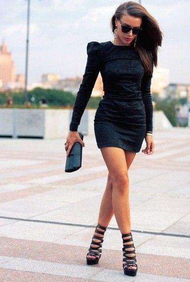 quelles chaussures avec une robe noire 10 meilleures tenues mode tendance pinterest karl. Black Bedroom Furniture Sets. Home Design Ideas