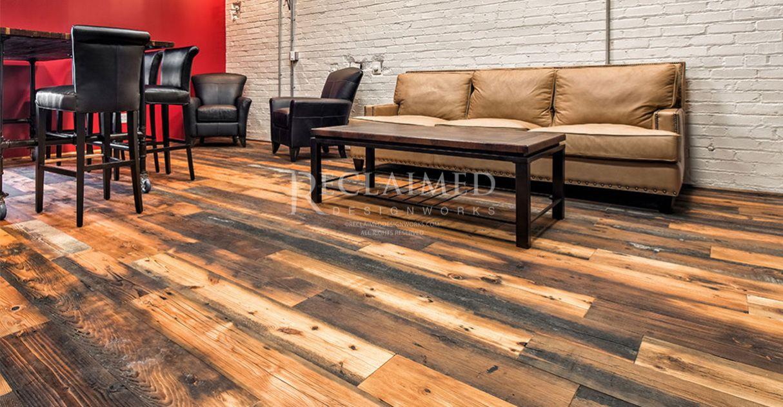 Charming den hardwood floors hardwood reclaimed wood