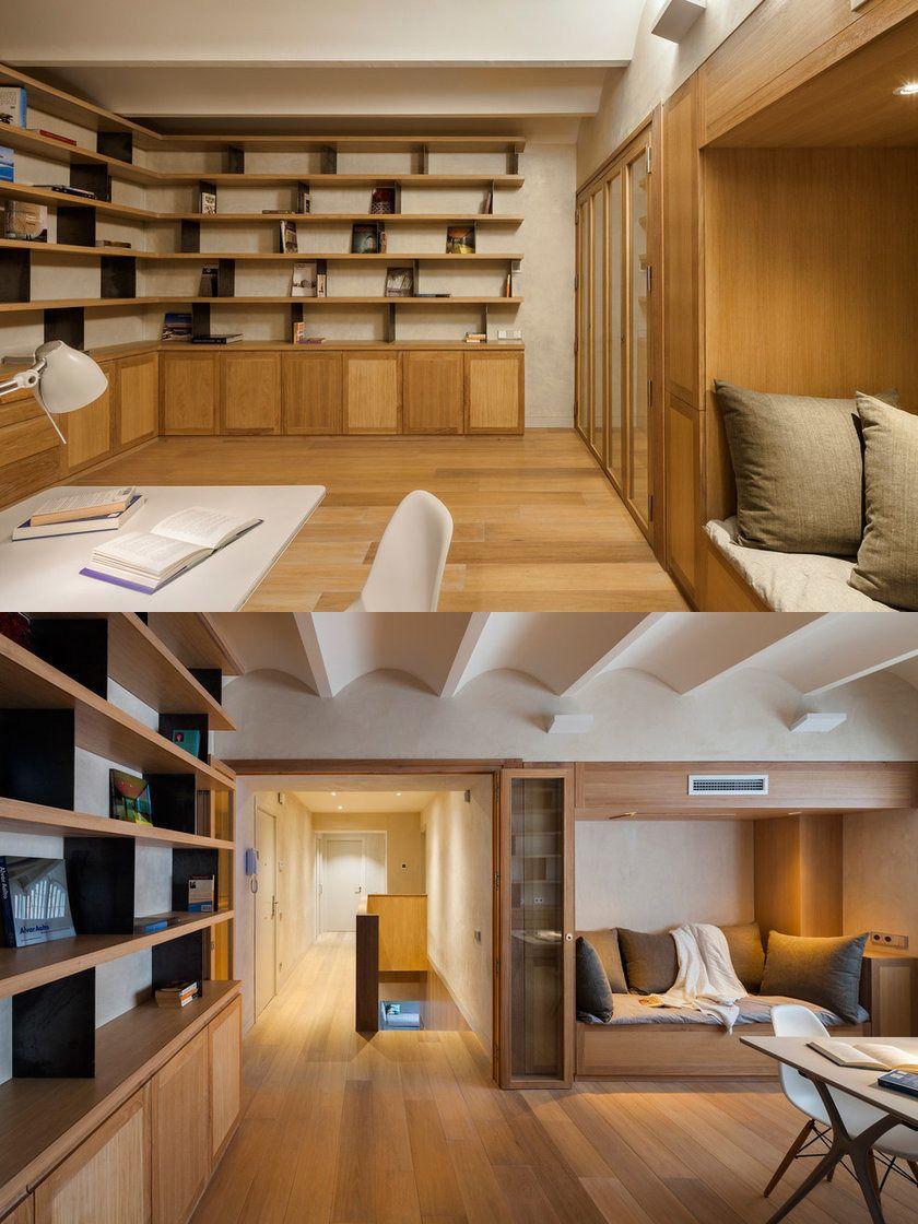Mid Sized Trendy Freestanding Desk Medium Tone Wood Floor Home