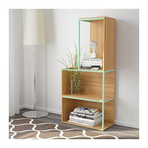 ikea ps 2014 aufbewahrung mit abdeckung bambus hellgr n ikea deco and storage ideas. Black Bedroom Furniture Sets. Home Design Ideas