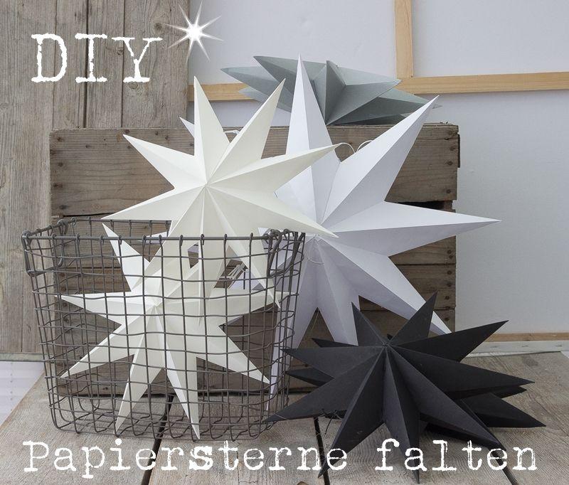 die besten 25 papiersterne falten ideen auf pinterest faltstern anleitung weihnachtssterne. Black Bedroom Furniture Sets. Home Design Ideas