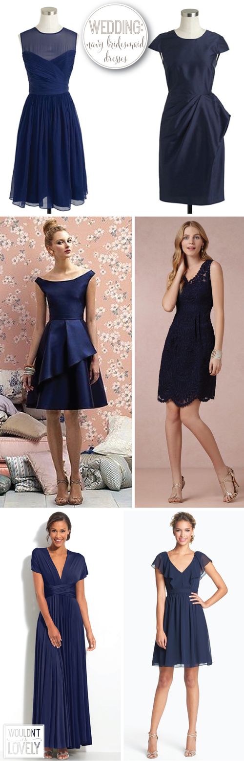 great navy bridesmaid dresses