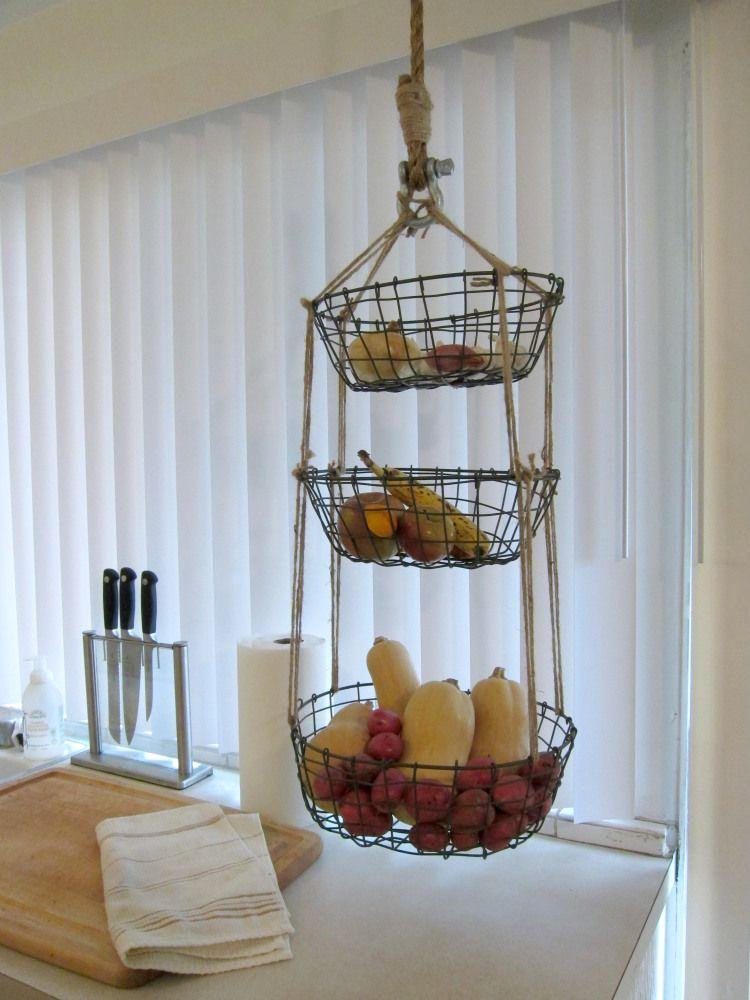 DIY: Hanging Produce Baskets | Home Sweet Home | Hanging ...