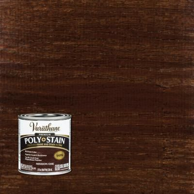 Varathane 8 Oz Mission Oak Satin Oil Based Interior Stain And Polyurethane 4 Pack In 2020 Mission Oak Interior Wood Stain Varathane Stain
