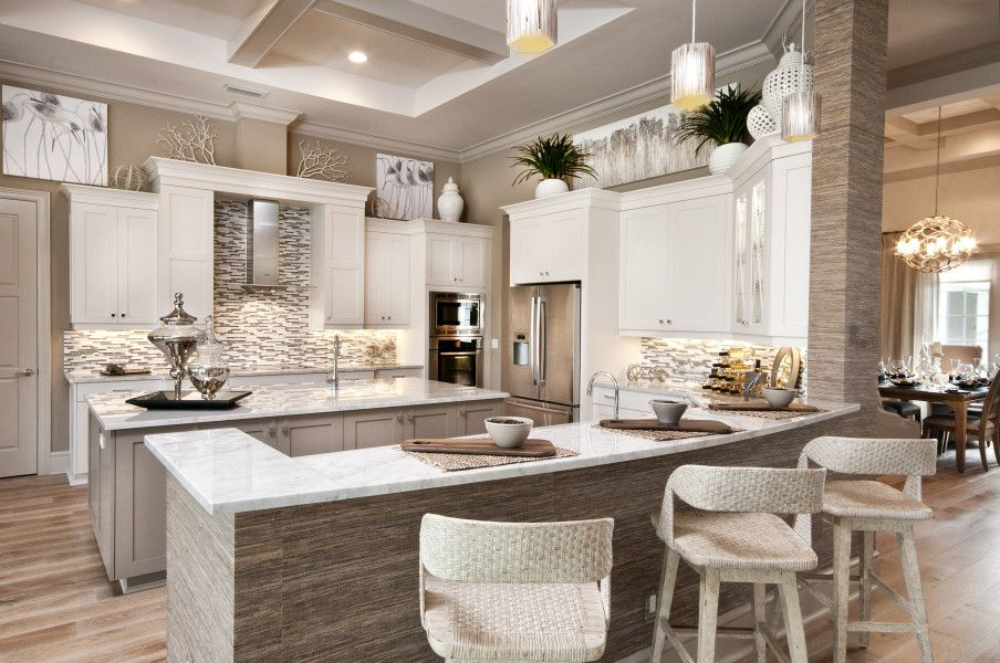 Coastal Contemporary Kitchen Love This Divco Custom Homes Beauteous Kitchen Remodeling Naples Fl Exterior