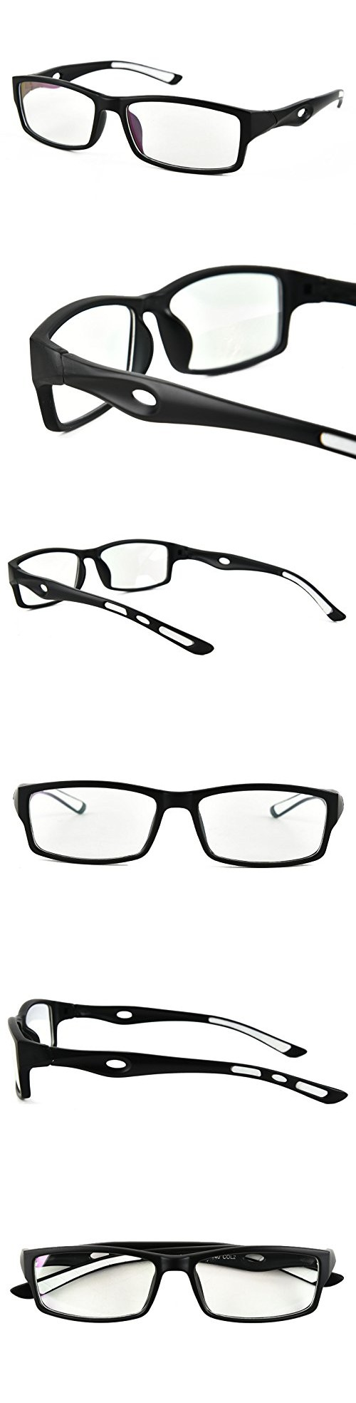 Beison Sports Optical Eyeglasses Frame Plain Glasses Clear Lens ...