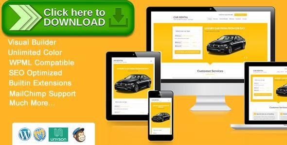Free nulled Car Rental WordPress Theme Landing Page download ...