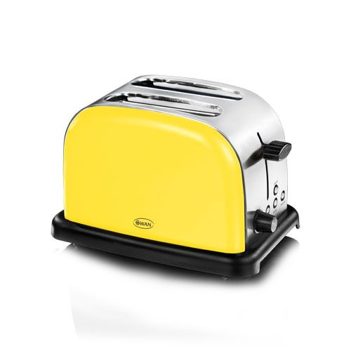 2 Slice Mellow Yellow Toaster Swan Brand Co Uk Stylish Kitchen Yellow Toaster Yellow Kitchen