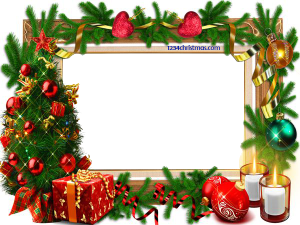 Christmas photo frame templates for free download clipart and borders pinterest frame for Christmas templates free download