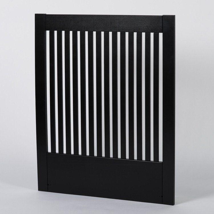 Zebra Collection ~ NOVA sänggavel i svart bok 90-210 cm