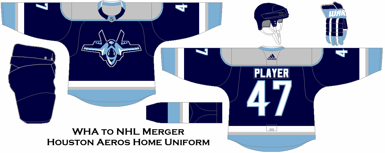What If The Nhl Kept With The Original Plan And Took More Teams In The Wha Merger Houston Aeros Home Uniform Concept Houston Aeros Nhl Hockey Hockey Jersey