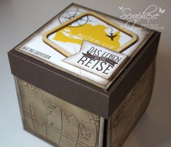 explosion box australien geschenk reise basteln pinterest australien box. Black Bedroom Furniture Sets. Home Design Ideas