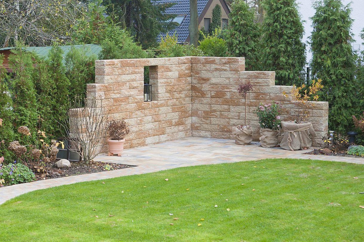 Romano Mauer rustica von Rinn Betonsteine und Natursteine #smallbalconyfurniture
