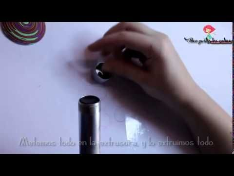 Video-tutorial ESPIRAL con extrusora en arcilla polimérica / SPIRAL with...