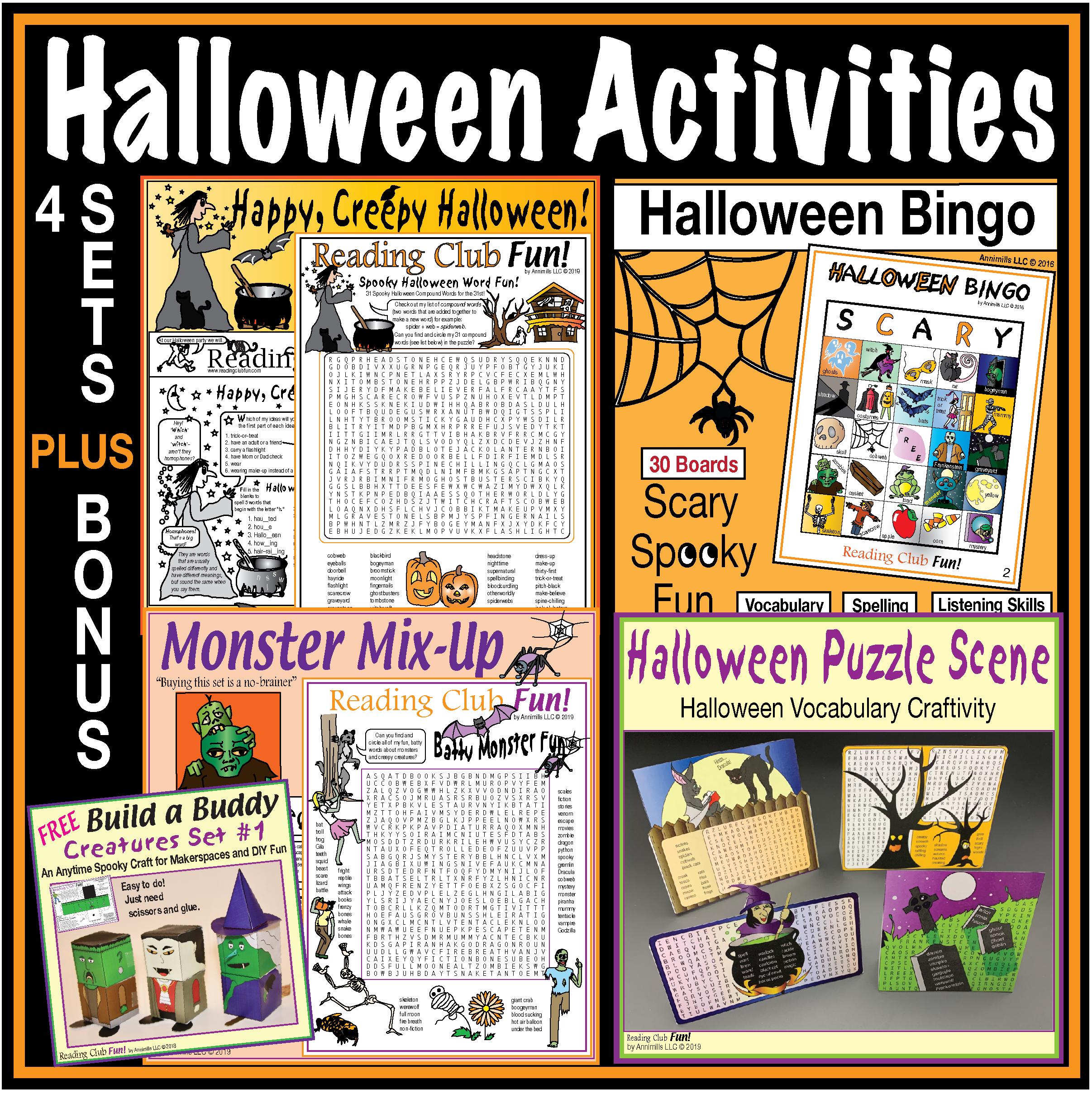 Halloween Activities Puzzles Bingo Crafts Amp Activities