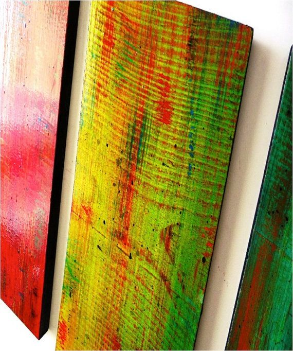 Solidarity in 5\' / a large, colorful wood wall sculpture / original ...