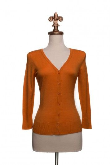 Type 3 Light Orange Cardigan - $32.97 | autumn wardrobe ...