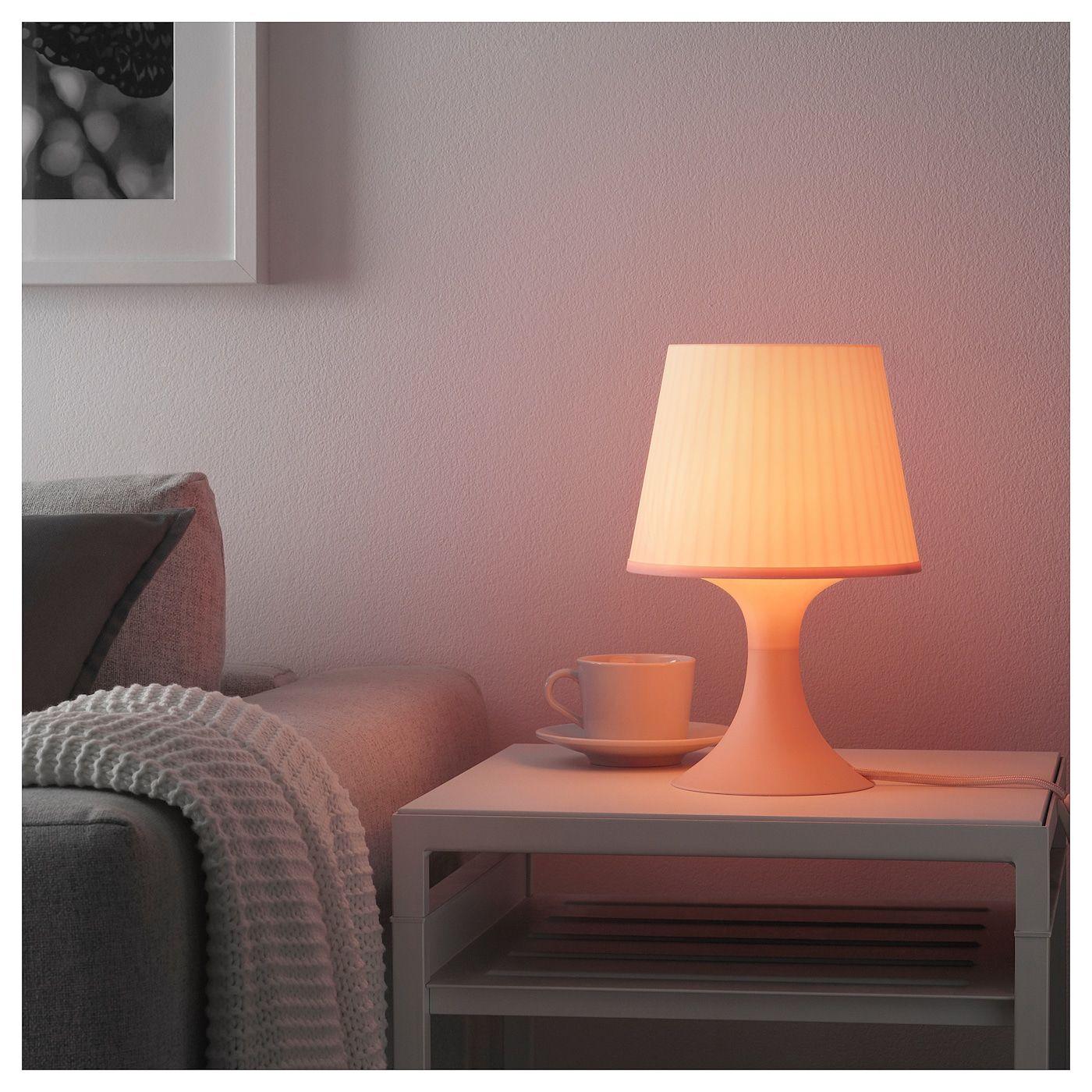 Lampan Table Lamp Light Pink Ikea Weisse Tischlampe Lampentisch Lampe