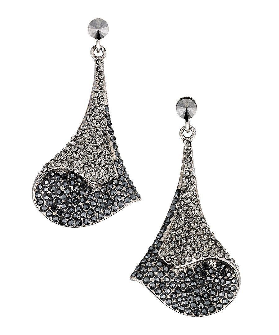 Gemini London Haute Couture Swarovski earrings black Designer