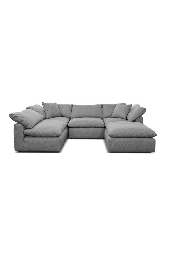 Bryant U Sofa Bumper Sectional 5 Piece Sofa One Room