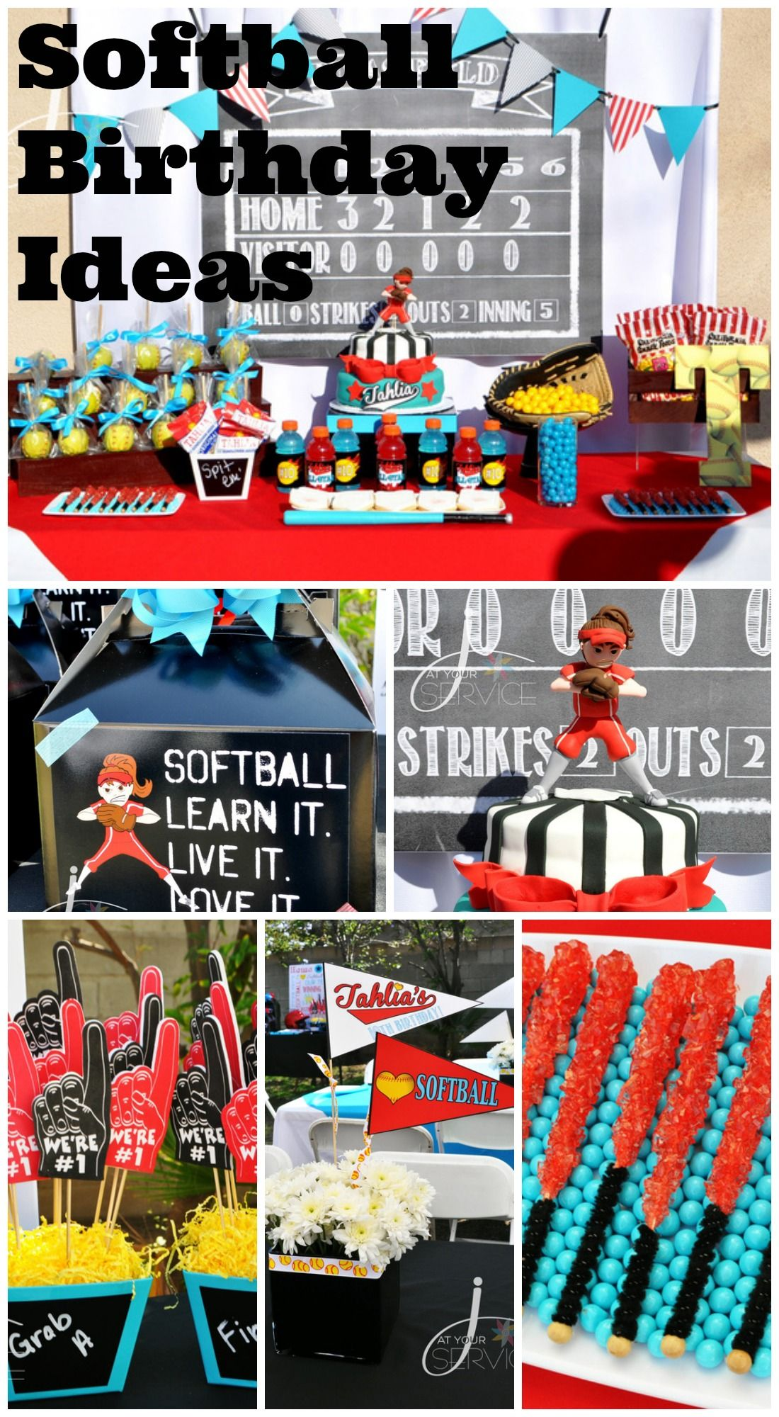 Great Softball Girl Birthday Party Ideas Including The