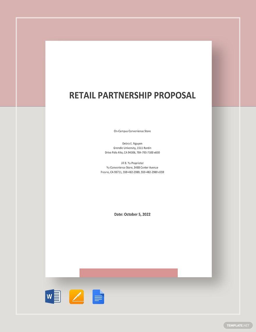 Retail Partnership Proposal Template Free Pdf Google Docs Word Apple Pages Pdf Template Net Proposal Templates Business Website Proposal Business partnership proposal template free