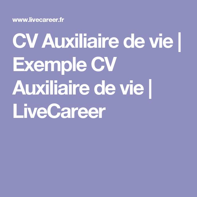 Cv Auxiliaire De Vie Exemple Cv Auxiliaire De Vie Livecareer Cv Auxiliaire De Vie Exemple Cv Auxiliaire De Vie