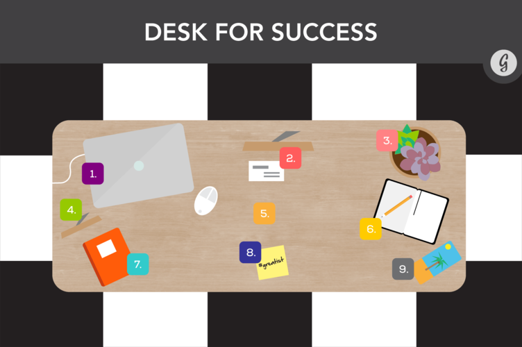How to organize your desk to increase productivity interior design