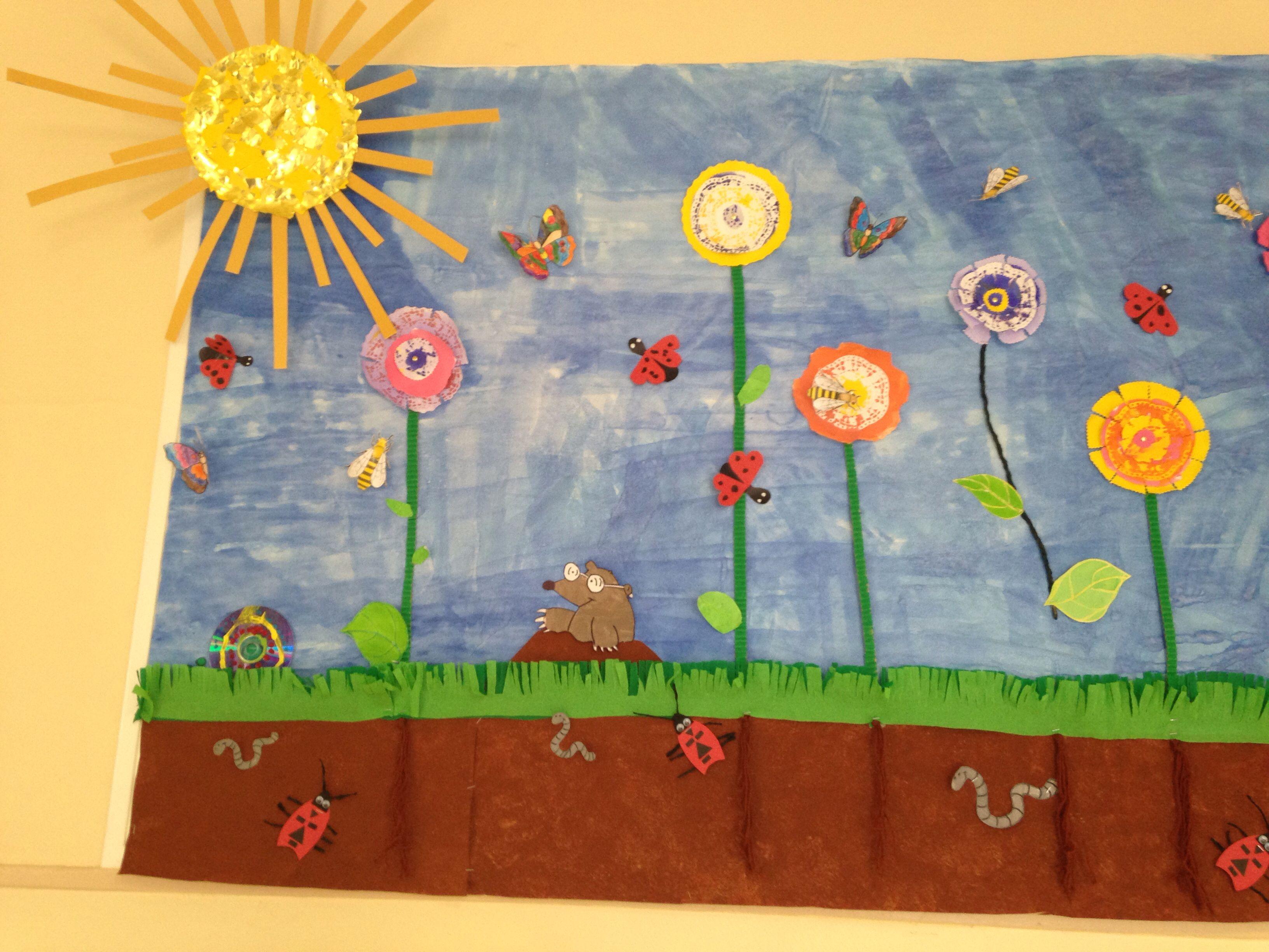Fresque Collective Printemps Dans Ma Classe Ms Art Et Flag