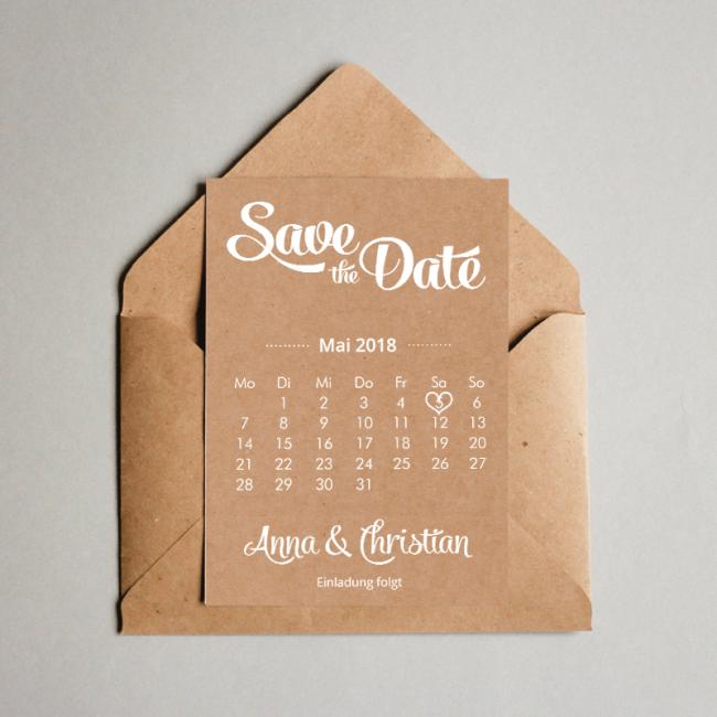 Save The Date Karten Kraftpapier Script Future Wedding Wedding