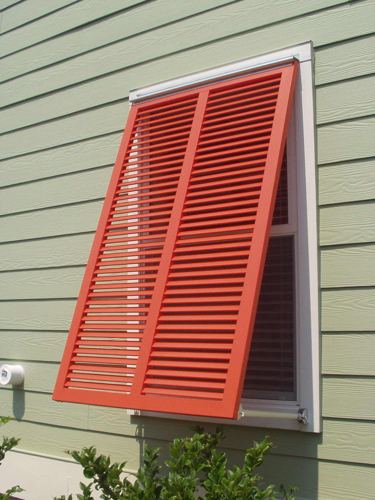 Bahama style shutters are very popular especially in coastal areas this shutters is entirely for Bermuda style exterior shutters
