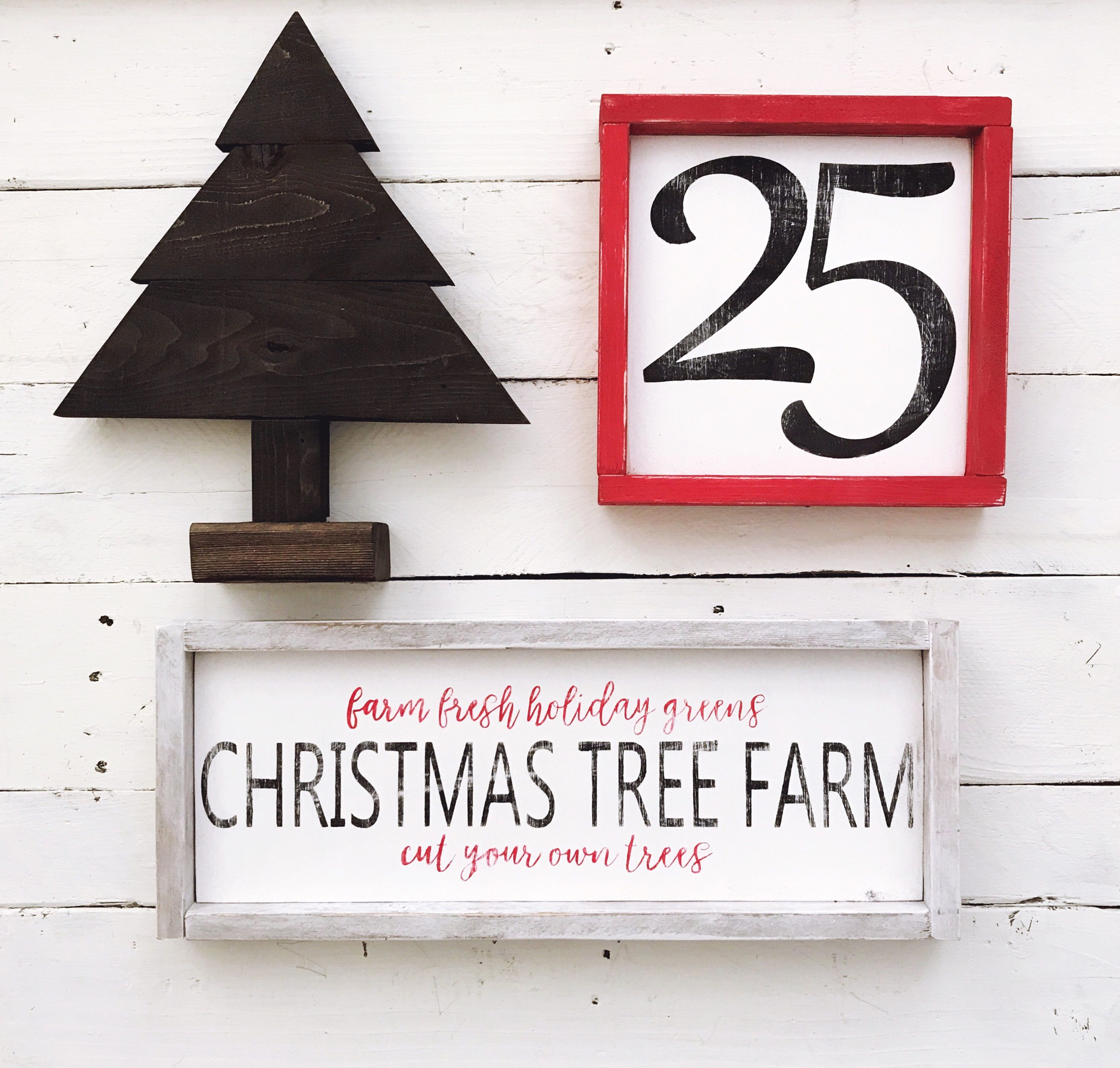 Modern Farmhouse Christmas Home Decor Wood Signs https://www.etsy ...