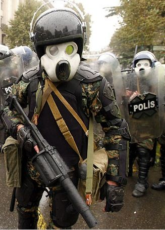 Here Is A Georgian Riot Police Officer Equipped With A