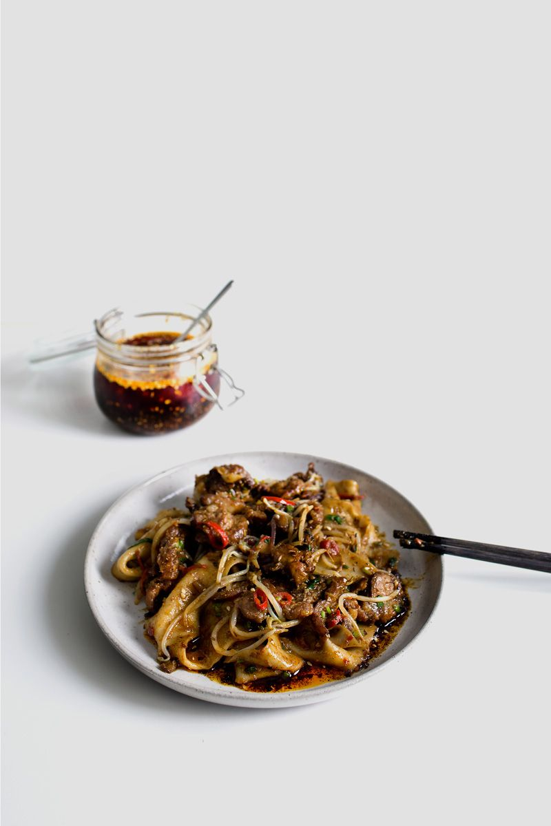 My xian famous spicy cumin lamb hand smashed noodles cumin lamb recipes forumfinder Images