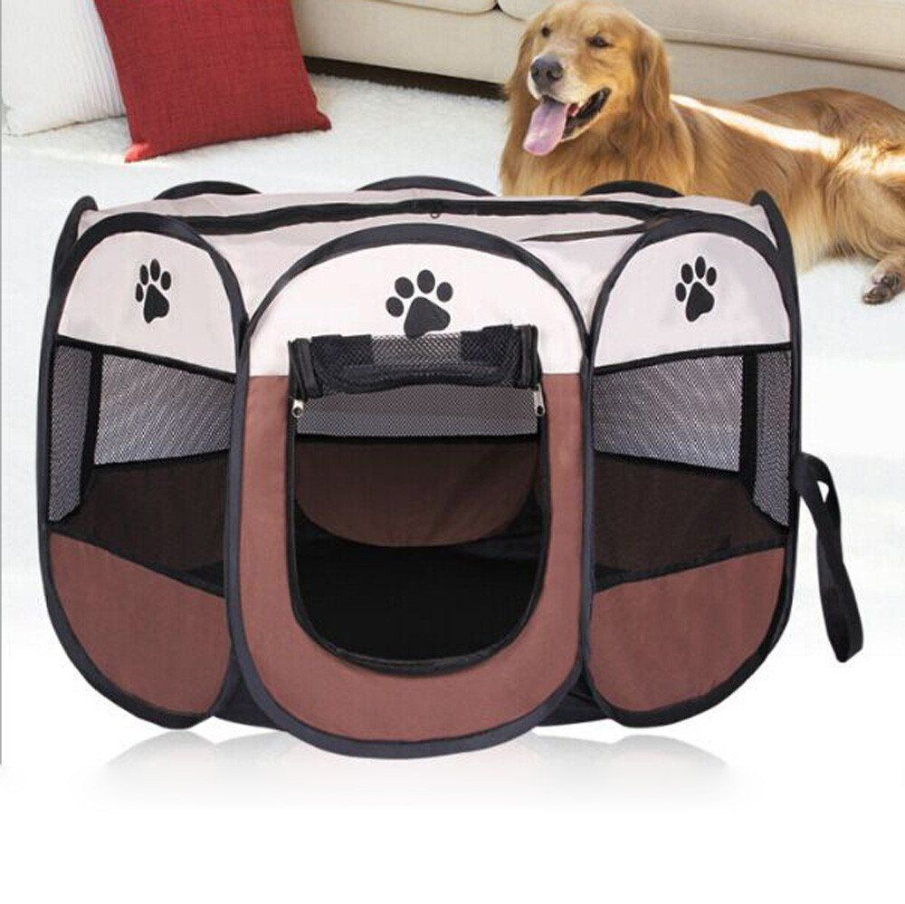 Voberry 8 Sides Pet Dog Tent Outdoor Fence Portable Cat