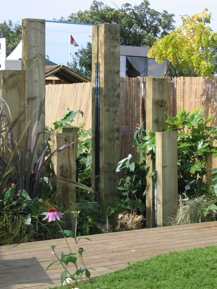 Railway sleeper feature ideas for new garden