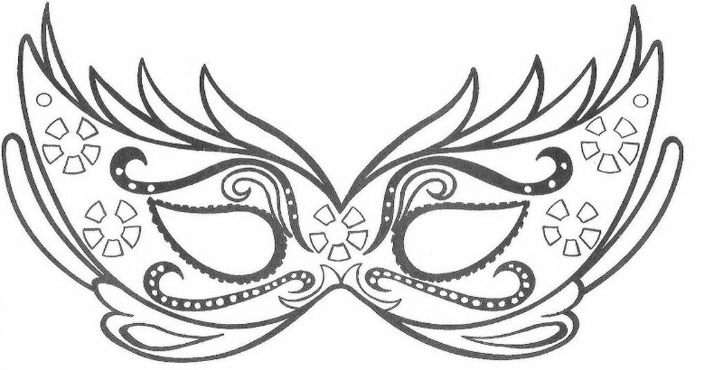 Mask Coloring Sheet 2017 16843 Mask Coloring Pages Carnaval Mask