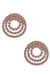 Rose Crystal Spiral Earrings