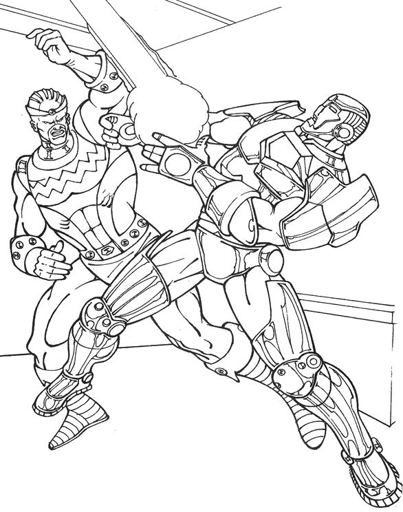 Batman Fighting Coloring Coloring Pages