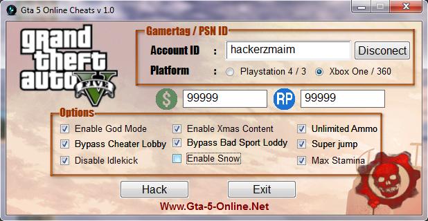 online cheats gta5